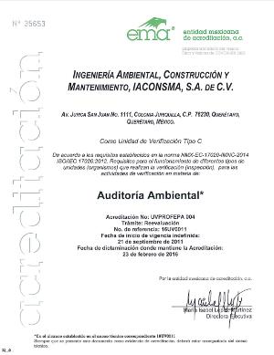 Acreditación Ambiental - NMX-AA-162-SCFl-2012