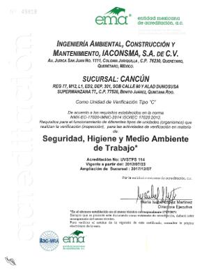 Sucursal Cancún UV Seguridad, Higiene y Medio Ambiente