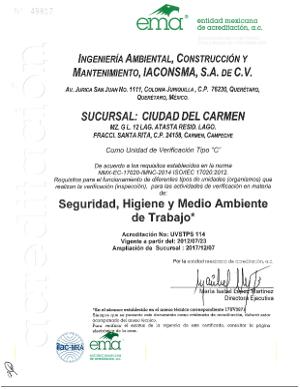 Sucursal Cd del Carmen UV Seguridad, Higiene y Medio Ambiente