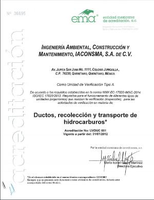 Acreditación Verificación de Ductos - NOM-027-SESH-2010
