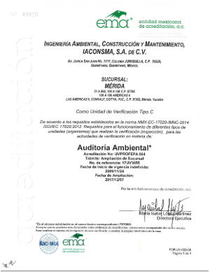 Sucursal Mérida UV Auditoria Ambiental