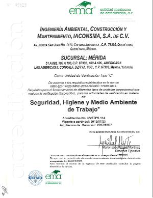 Sucursal Mérida UV Seguridad, Higiene y Medio Ambiente