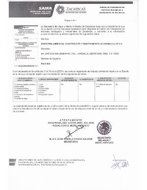 Registro Zacatecas - Prestador de Servicios Ecológicos y Ambientales