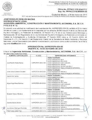Aprobación PROFEPA NMX-AA-162-SCFl-2012